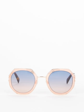 Gradient Lens Geometric Sunglasses