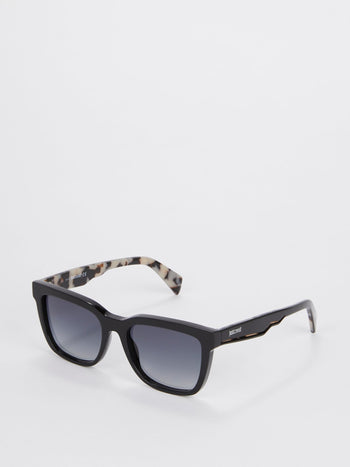 Black Sheen Grad Smoke Sunglasses