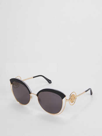 Acetate Cat Eye Logo Sunglasses