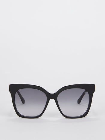 Smoke Lens Square Shaped Sunglasses
