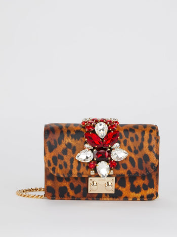 Mini Cliky Nappa Print Leopard Crossbody Bag