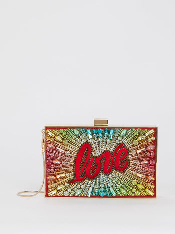 Boxy Love Rainbow Clutch Bag