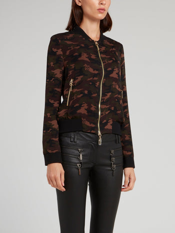 Camouflage Zip Up Jacket