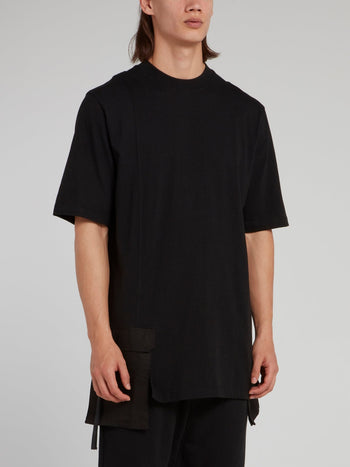 Black Front Pocket Short Sleeve Shirt