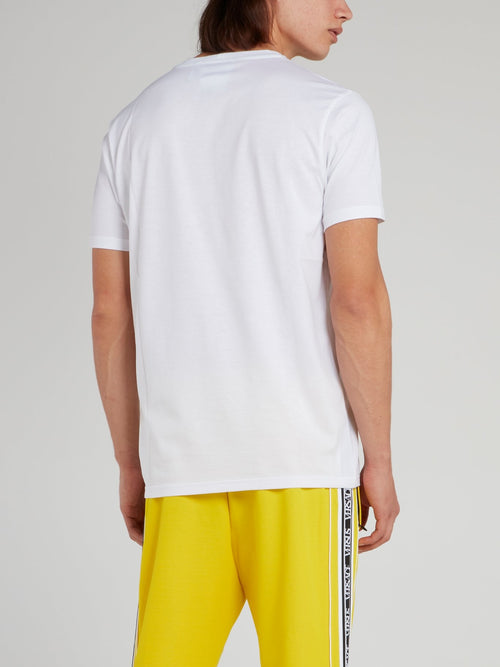White Statement Round Neck T-Shirt