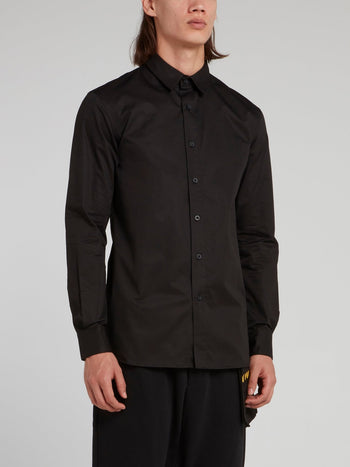 Black Statement Long Sleeve Shirt