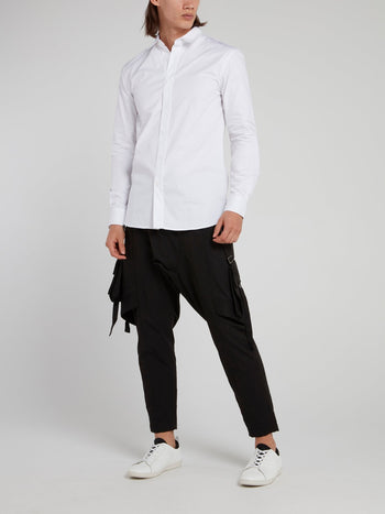 White Statement Long Sleeve Shirt