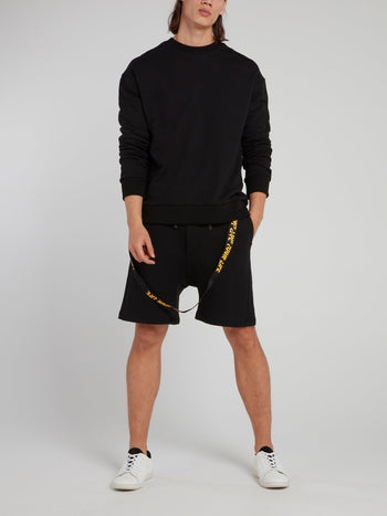 Black Rear X-String Detail Sweatshirt
