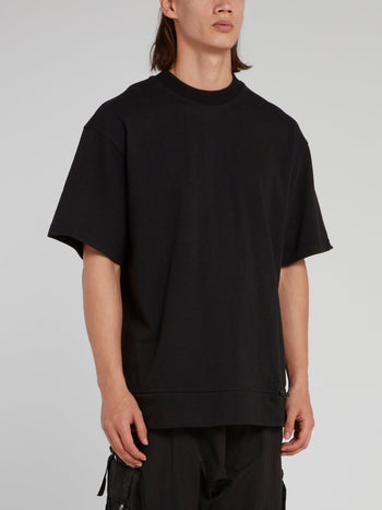 Black Oversize Half Sleeve Loose T-Shirt