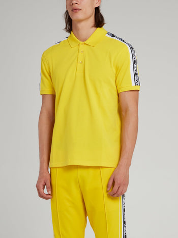 Yellow Logo Shoulder Polo Shirt