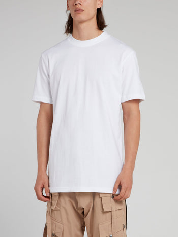 White Short Sleeve Crewneck T-Shirt