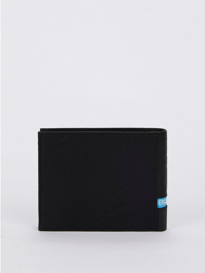 Brix 30 Black Contrast Lining Leather Wallet (Billfold 7 C/C with Coin Pocket)