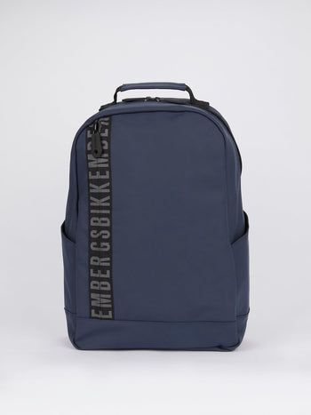 Navy Side Stripe Logo Backpack