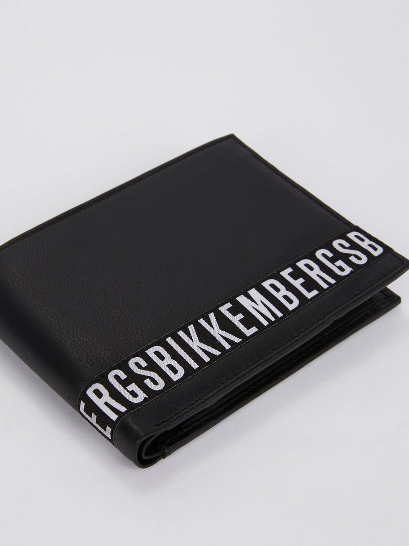 Brix 302 Black Logo Leather Wallet (Billfold 5 C/C with Coin Pocket )