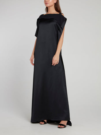 Black Asymmetric Maxi Dress