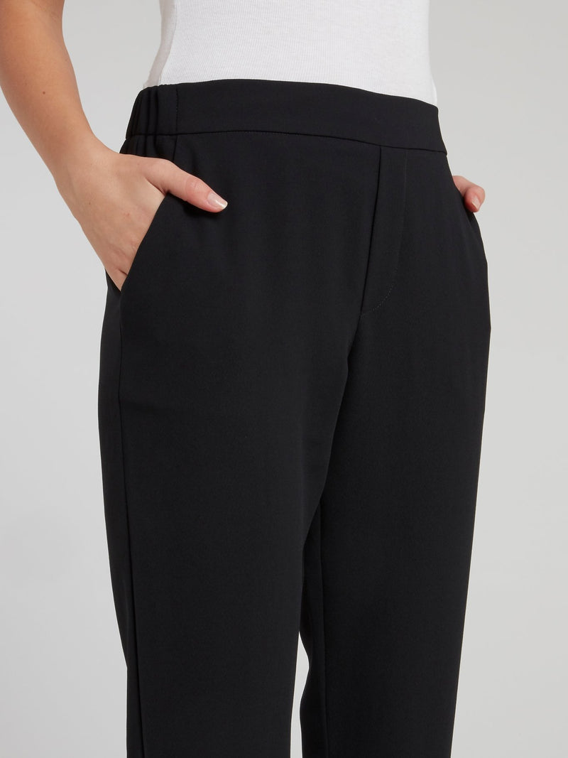 Black High Waist Tapered Pants