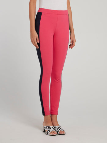 Pink Side Tape Waistband Trousers