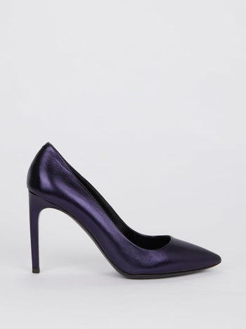 Purple Nappa Pumps
