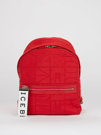 Red Stitch Detail Backpack