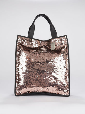 Kappa Sequin Embellished Tote Bag