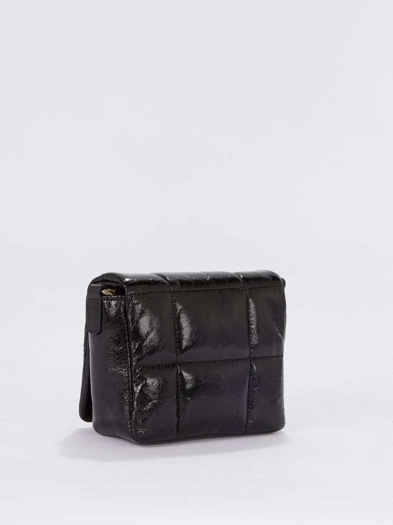 Black Quilted Leather Crossbody Bag