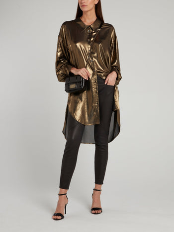 Metallic Loose Fit Blouse