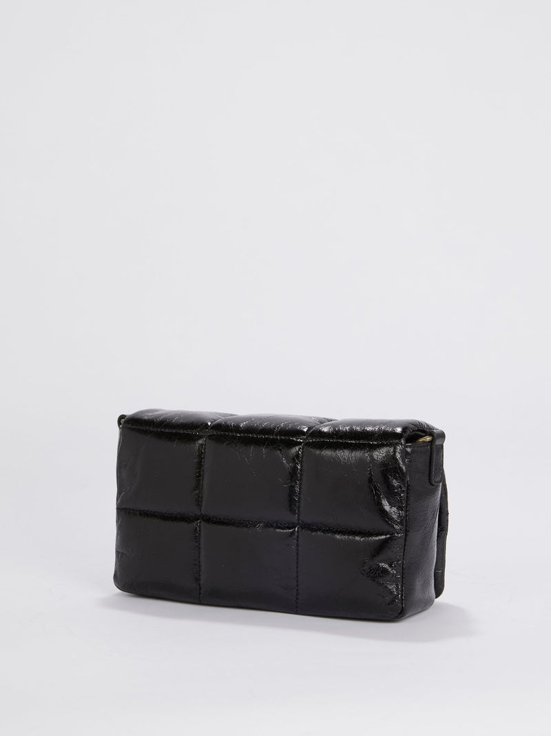 Black Quilted Clutch Bag
