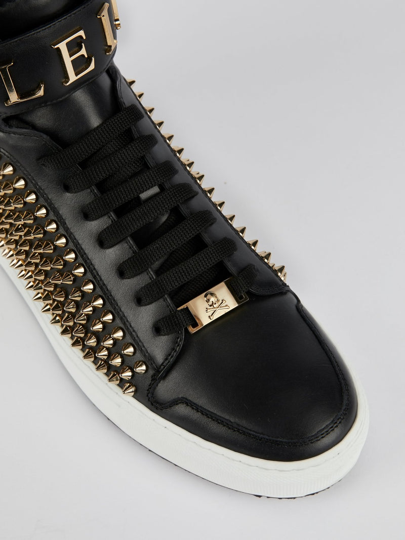 Ernie Studded High Top Logo Sneakers