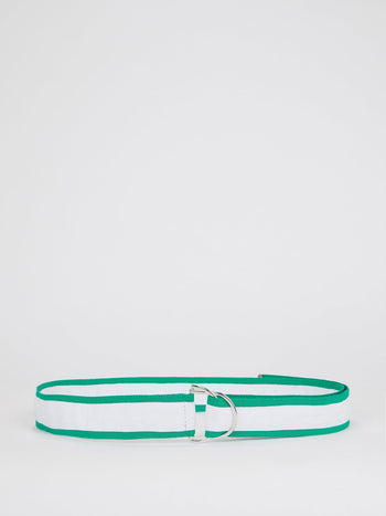 Two Tone Striped Strap Belt