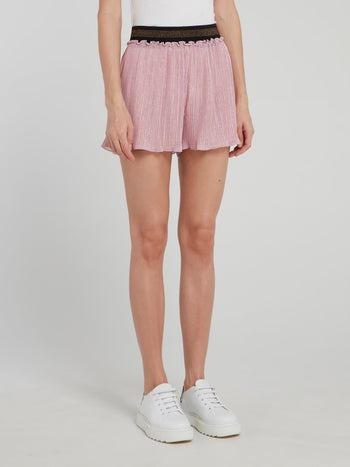 Pink Tulle Mini Shorts