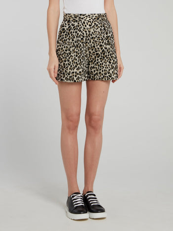 Leopard Print Mini Shorts