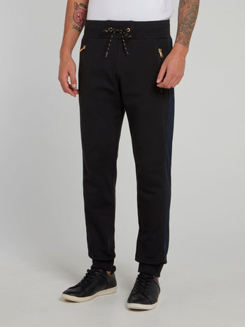Black Zipper Pocket Track Pants