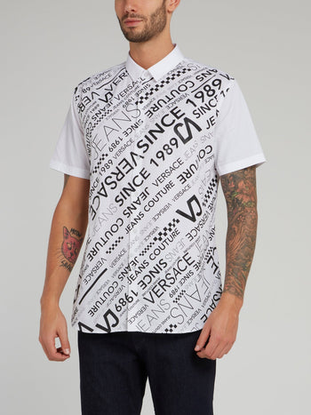 White Logo Short Sleeve Shirt