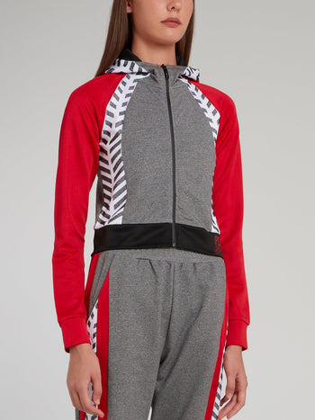 Red Sleeve Cotton Track Jacket