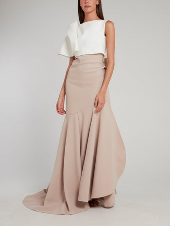 Beige Aficionado Evening Skirt