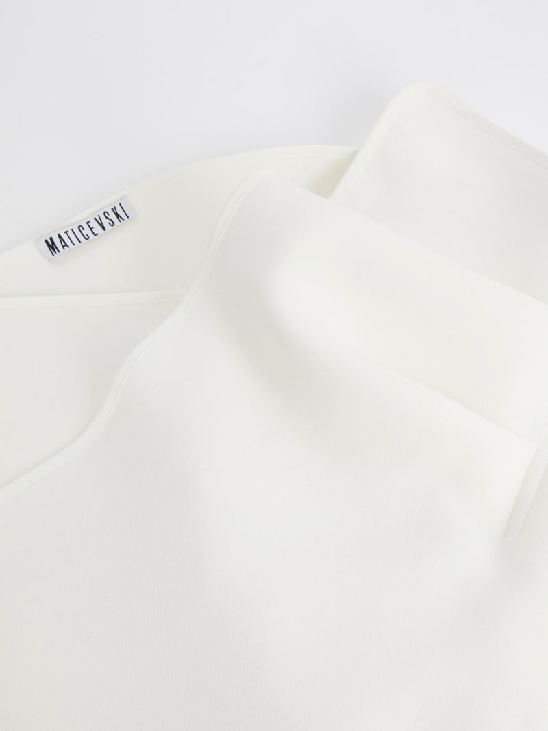 White Reassure Cummerbund Belt