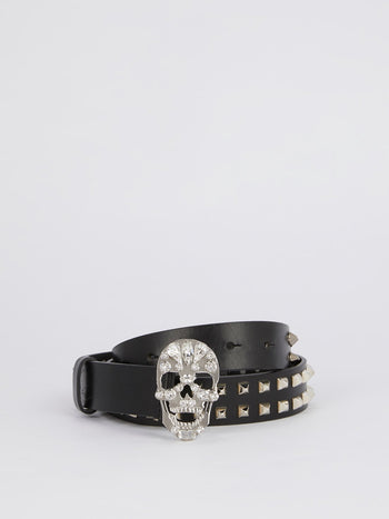 Crystal Skull Buckle Belt