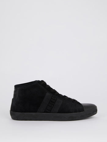 Black High Top Suede Sneakers