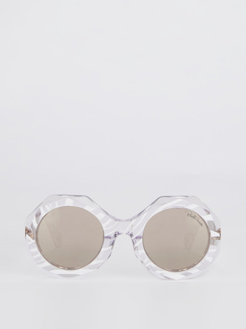 Smoke Mirror Crystal Sunglasses