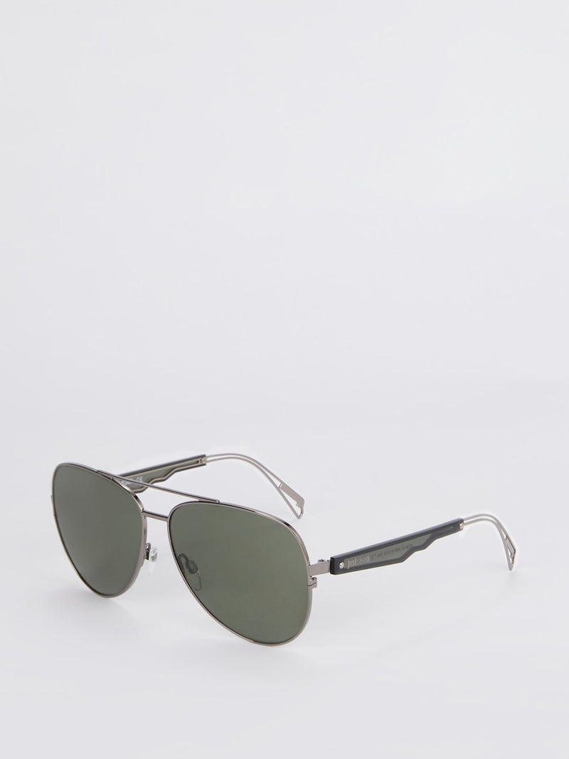 Gun Metal Aviator Sunglasses
