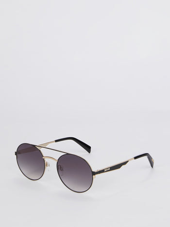 Smoke Gradient Round Sunglasses