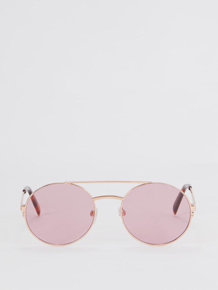 Bordeaux Lens Gold Frame Sunglasses