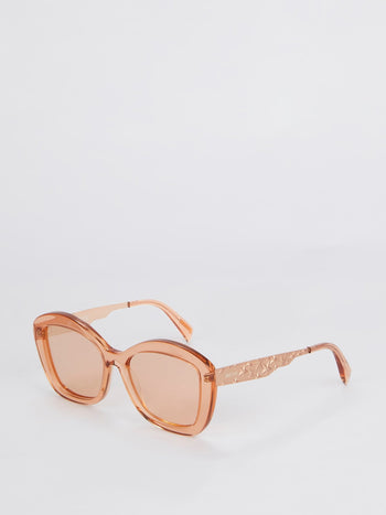 Pink Square Framed Sunglasses