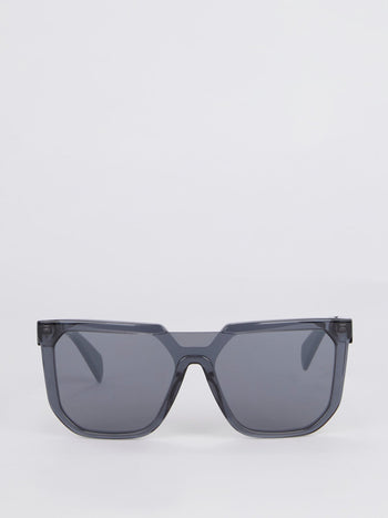 Smoke Mirror Lens Oversized Sunglasses