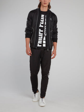 Geometric Logo Sleeve Jogging Jacket