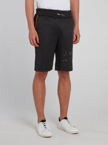 Black Drawstring Jogging Shorts