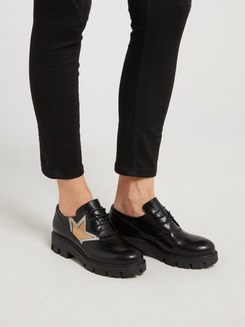 Black Low Top Leather Boots