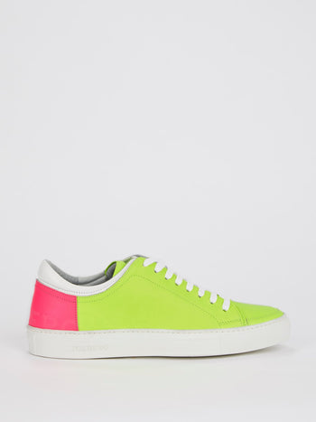 Neon Green Low Top Sneakers