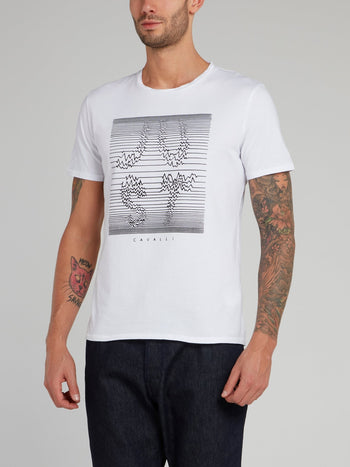 White Frequency Logo Cotton T-Shirt