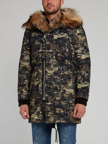 Fur Collar Camo Jungle Parka